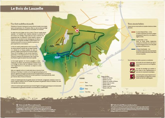 Les circuits du Bois de Lauzelle à Louvain-la-Neuve
