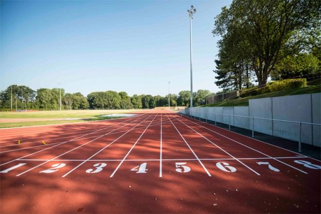 La piste d'athlétisme du Blocry à Louvain-la-Neuve