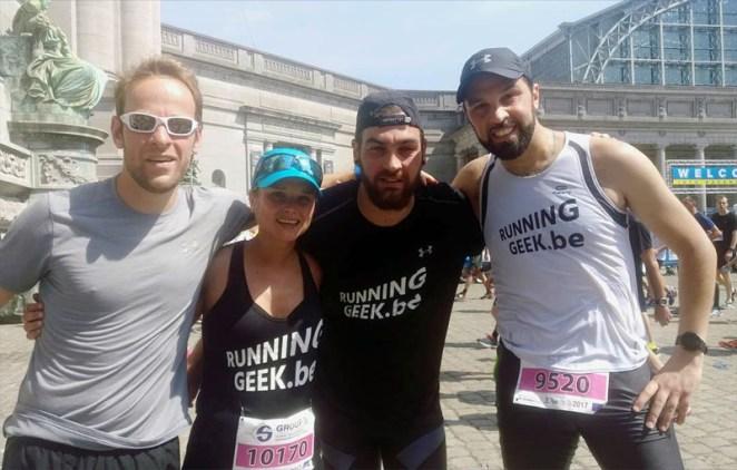 La team RUNNINGGEEK aux 20km de Bruxelles