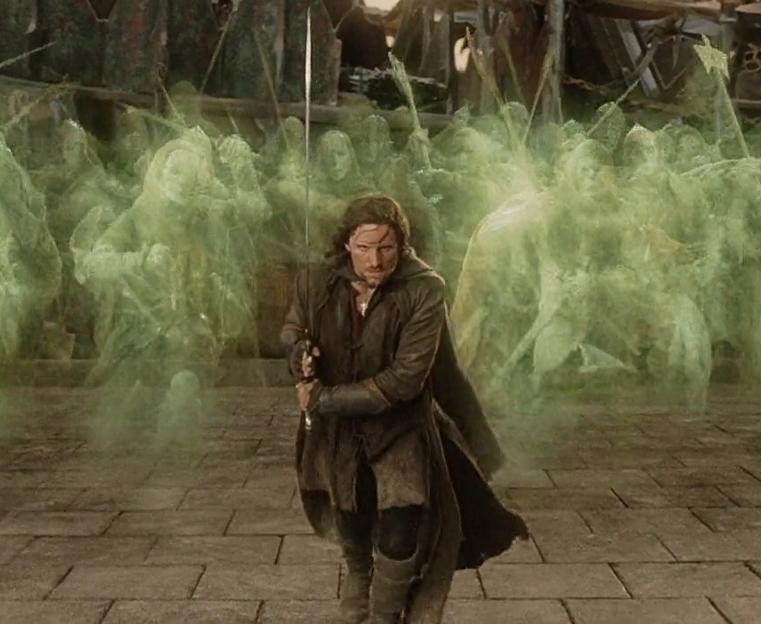 Aragorn of LOTR demonstrating perfect running form.