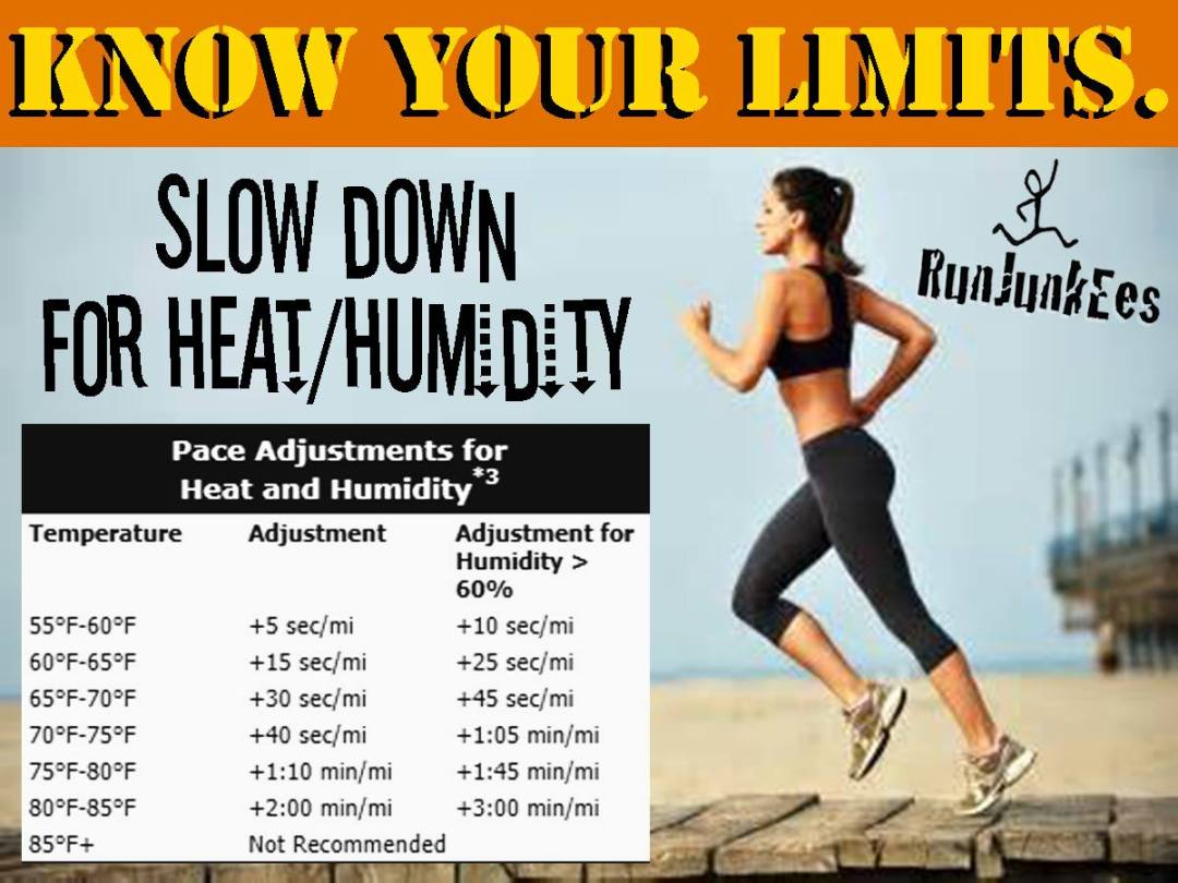 Run Junkees Heat/Humidity chart