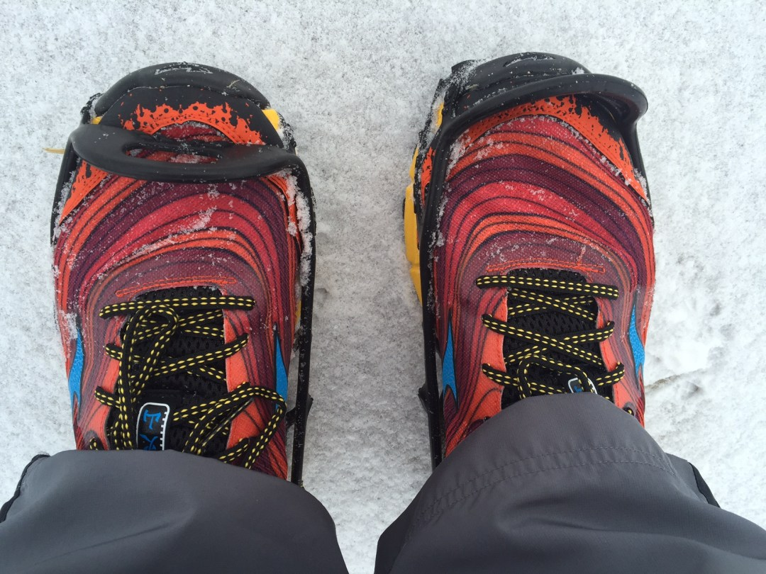 Running Irony: Finished 2,015 mile challenge with same shoes I fell in when I injured my ribs this month. Only this time I wore spikes!