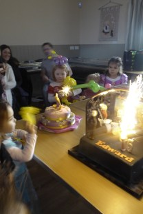 Kate's Princess cake with sparkler