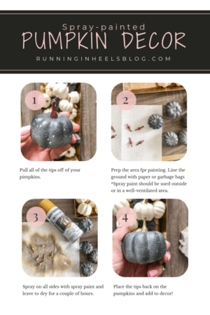 Fall decor ideas for a small apartment featured by top US life and style blog, Running in Heels | DIY Pumpkin decor