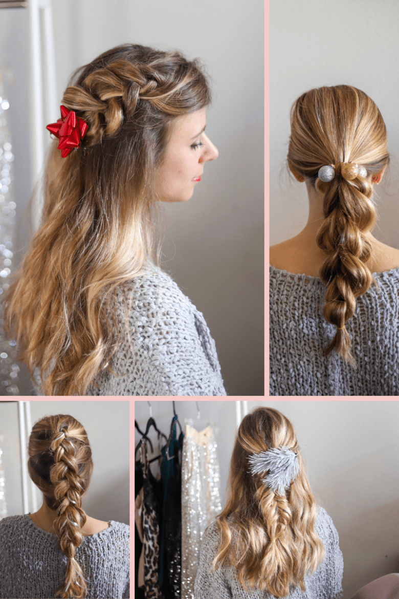 4 Cute Holiday Hair Accessories to Wear in Your Braids, hair tutorial featured by top Dallas beauty blogger, Running in Heels