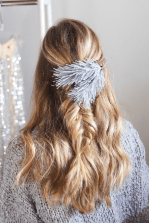 4 Cute Holiday Hair Accessories to Wear in Your Braids, hair tutorial featured by top Dallas beauty blogger, Running in Heels: brand garland