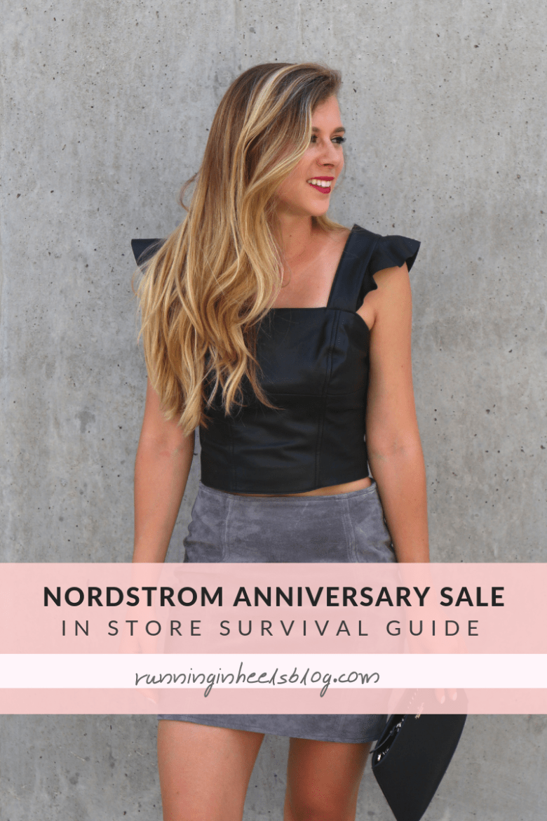 Essential tips to shop the Nordstrom Anniversary Sale in store featured by top US fashion blog, Running in Heels
