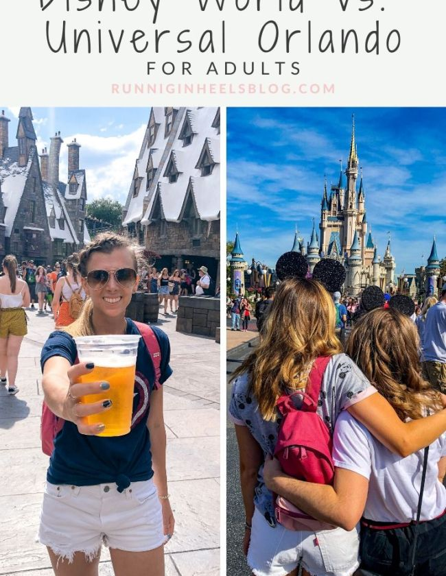 Disney World vs Universal Studios review featured by top US travel blog, Running in Heels