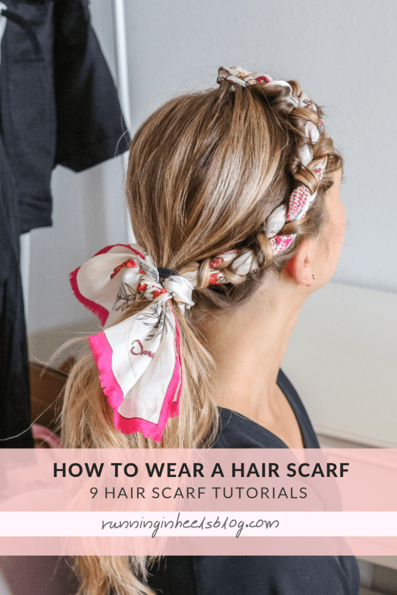 How to Wear a Hair Scarf, tips featured by top US beauty blog, Running in Heels: in braids