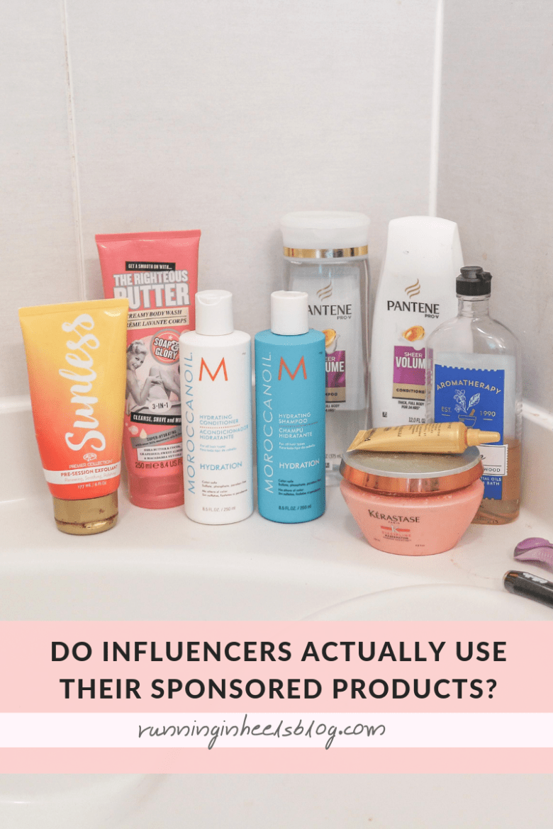 Find out whether or not influencers actually use the products they promote. What's in my shower?