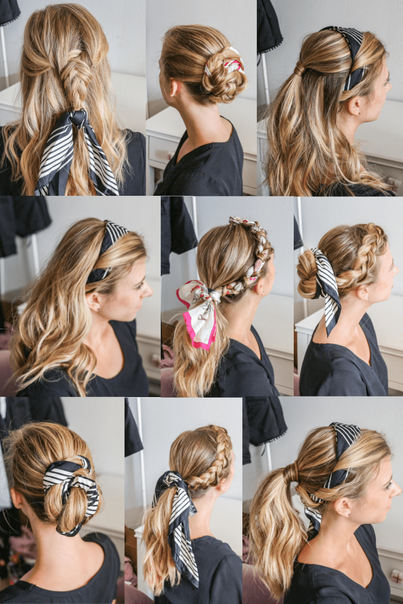 How To Wear A Hair Scarf 9 Cool Ways To Look Stylish Running In Heels