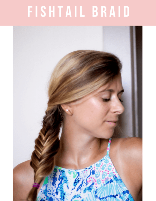 How to Do a Fishtail Braid on Yourself, a video tutorial featured by top Dallas beauty blogger, Running in Heels.