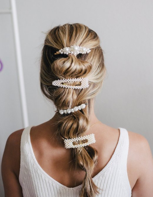How to Wear Barrettes in Long Hair: 10 Cute Ideas, hair tutorial featured by top Dallas beauty blogger, Running in Heels.