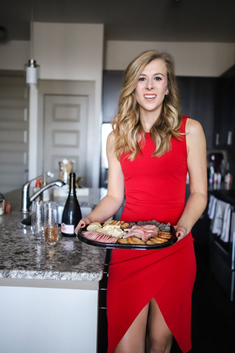 Hosting Tips for the Best Friends Holiday Party, try serving up a Hillshire Farm snacking platter for quick and easy party snacks. Feature by top US fashion and lifestyle blogger Running in Heels