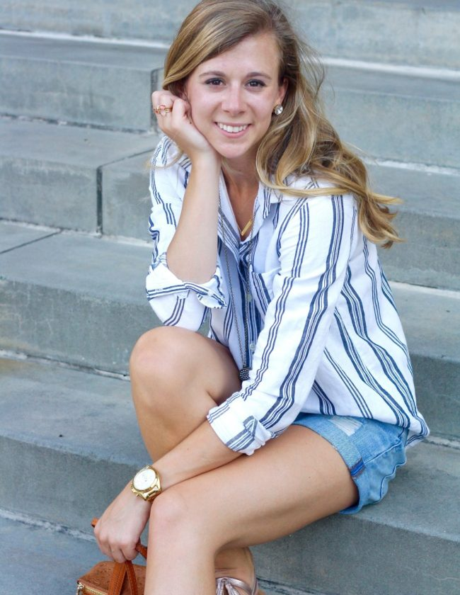 Why wear long sleeves in the Summer, tips featured by top Dallas fashion blogger, Running in Heels