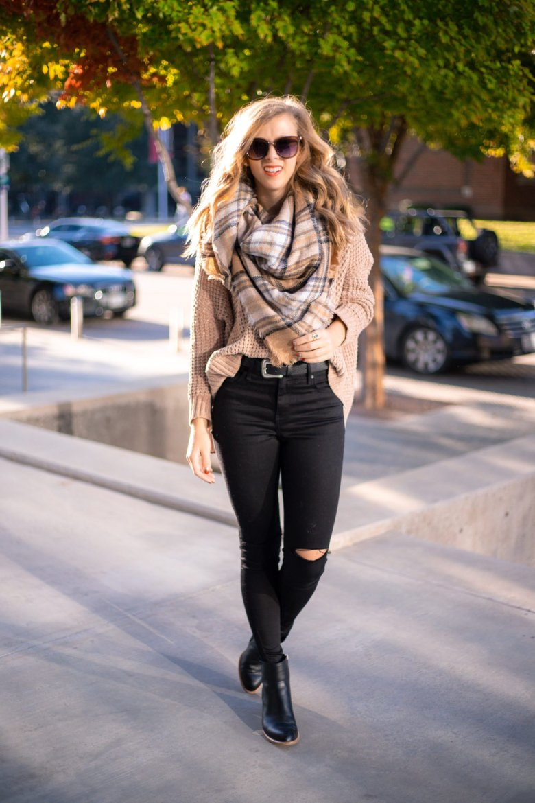 How to Tie a Blanket Scarf, tips featured by top US fashion blog, Running in Heels: bandana