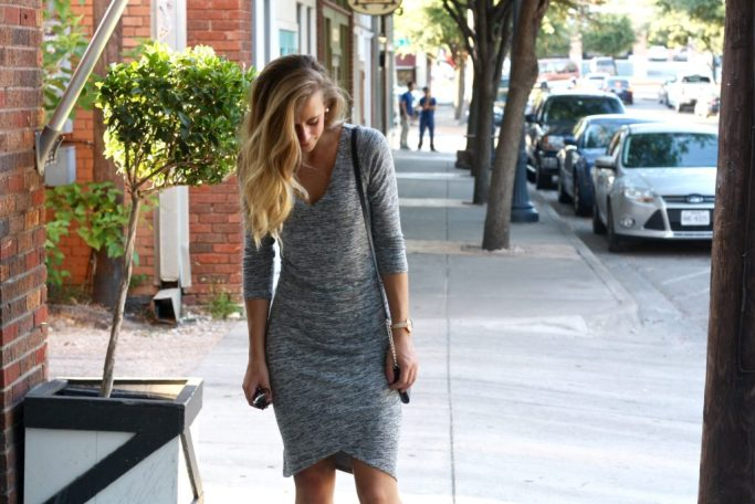 Sweater Dress with Heels look styled by top US fashion blog, Running in Heels.