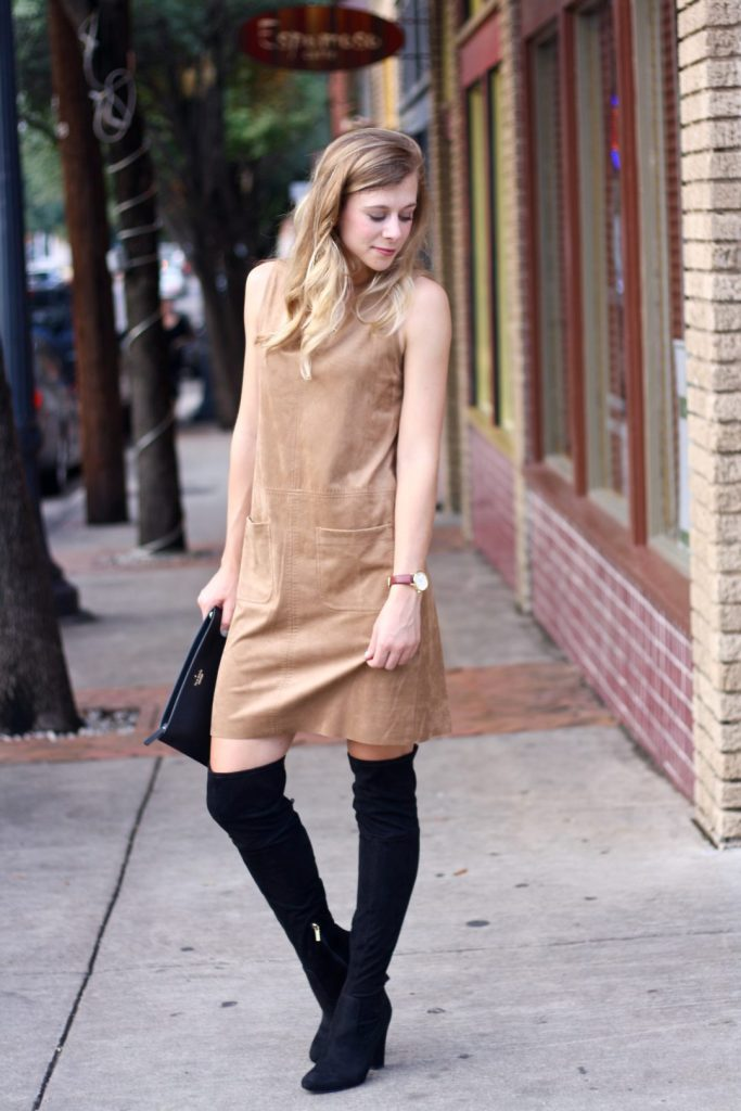 suede Dress and OTK boots