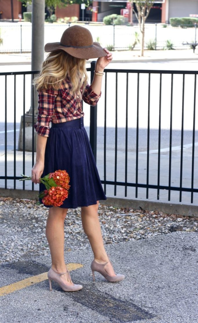 Suede and Fall Flowers