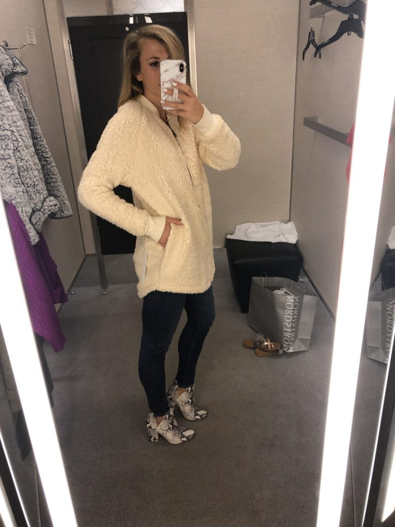 What NOT to Buy from the 2019 Nordstrom Anniversary Sale featured by top US fashion blog, Running in Heels: shearling jacket