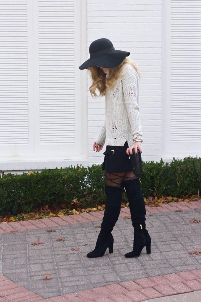 Running in Heels   Turtleneck Sweater   Winter Fashion