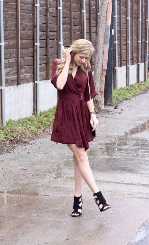 Wrap Dress for Valentine's Day