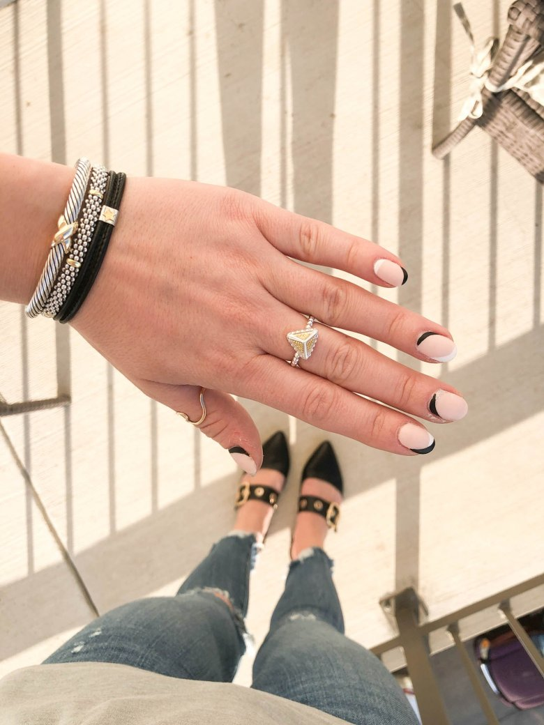 Spring Jewelry Trends to Wear featured by top Dallas fashion blog, Running in Heels: assymetic jewelry