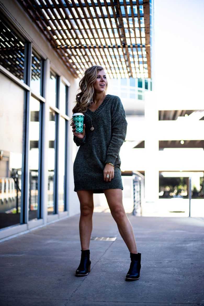 How to Keep Your Tan Year Round | Running in Heels | I get so many questions about how I wear a chenille sweater dress and look so tan. I keep my tan all year long with Palm Beach Tan memberships!