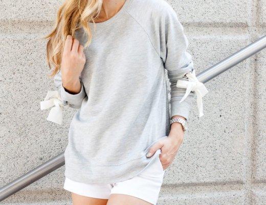 Tie Sleeve Sweatshirt