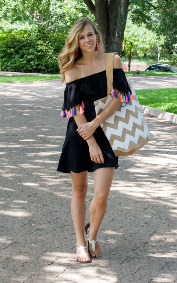 Colored Tassel Dress | Running in Heels