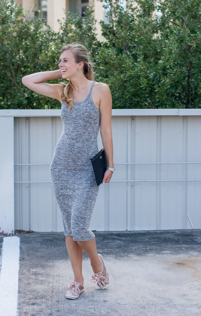 Midi Melange Knit Dress