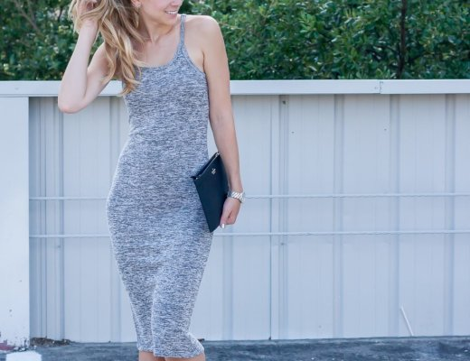 Midi Melange Knit Dress