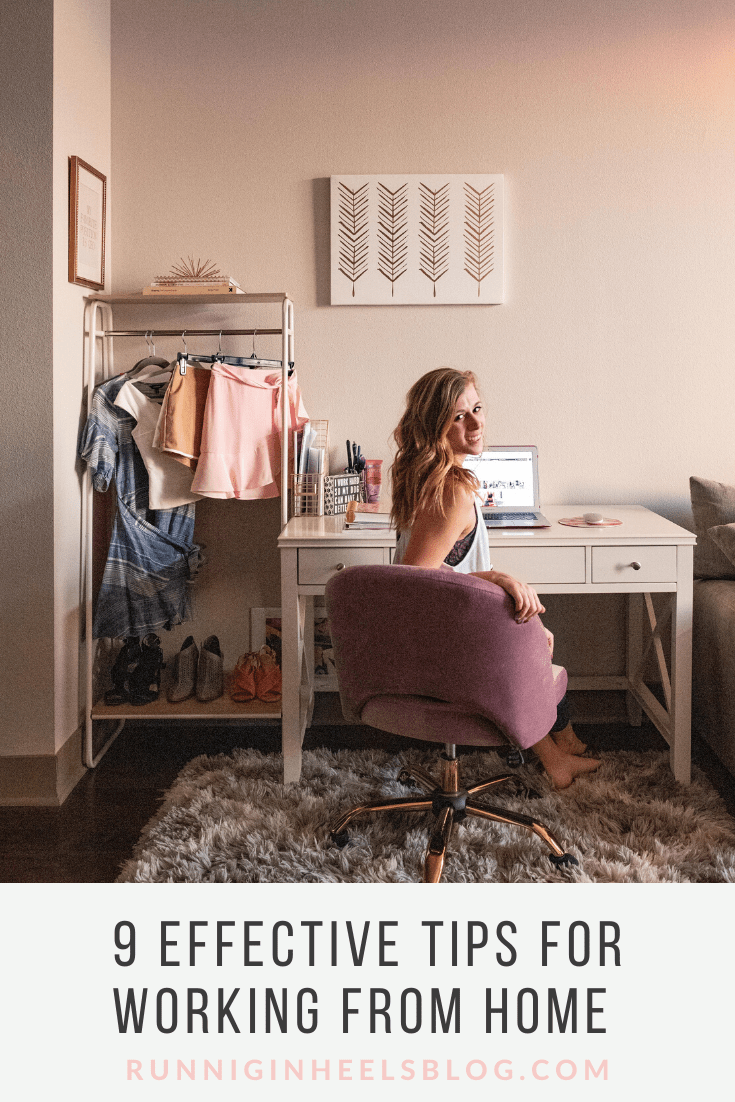 Tips for Working from Home for the Corporate Worker featured by top Dallas lifestyle blog, Running in Heels.