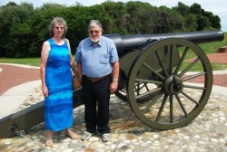 Mom and Dad by Fort Macon Cannon