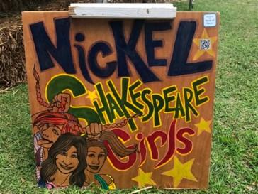 Nickel Shakespeare Girls sign 1