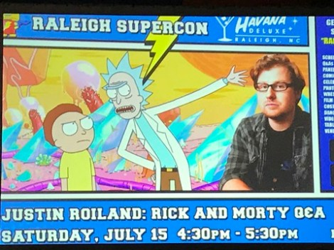 Justin Roiland pnael 2 Raleigh Supercon 2017