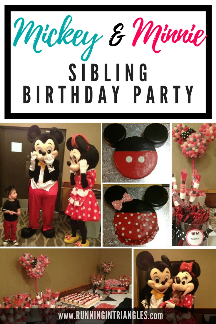 Mickey and Minnie Mouse themed brother and sister birthday party