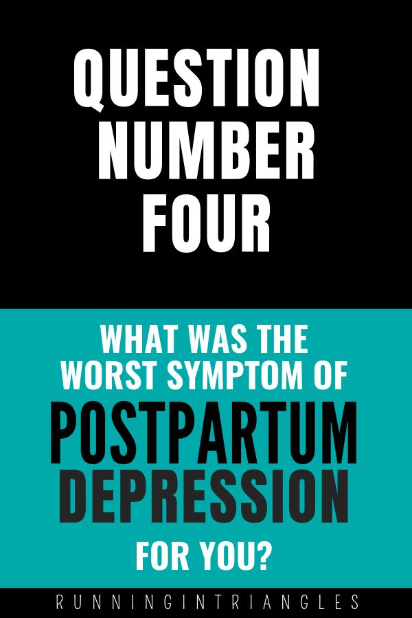 Postpartum Depression Symptoms