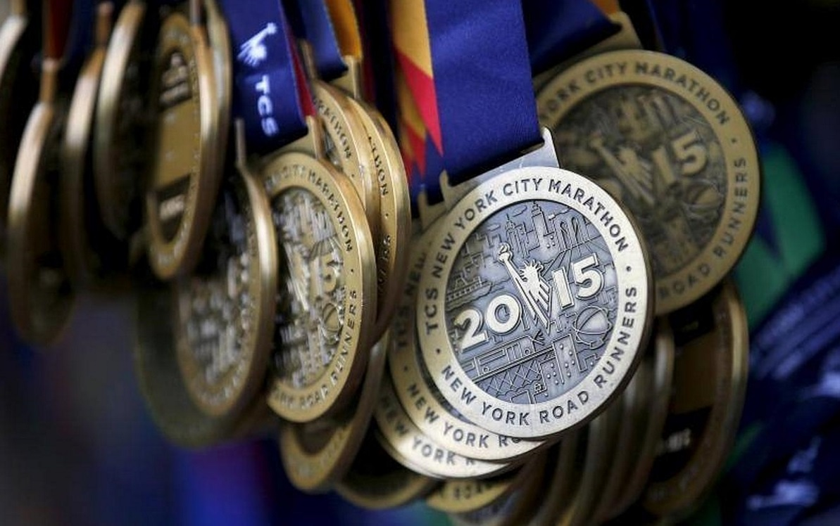 Medallas del TCS New York City Marathon 2015.