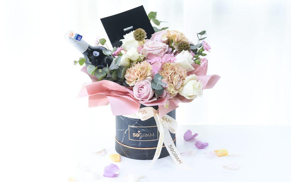 grand pink aurora flower bouquet from 50gram