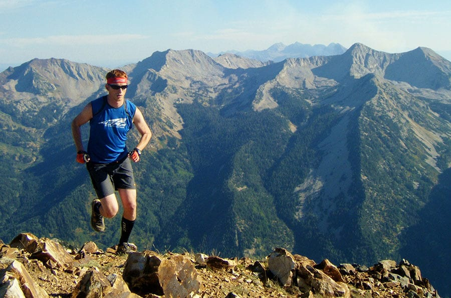 Altra Golden Harper Running in Mountains