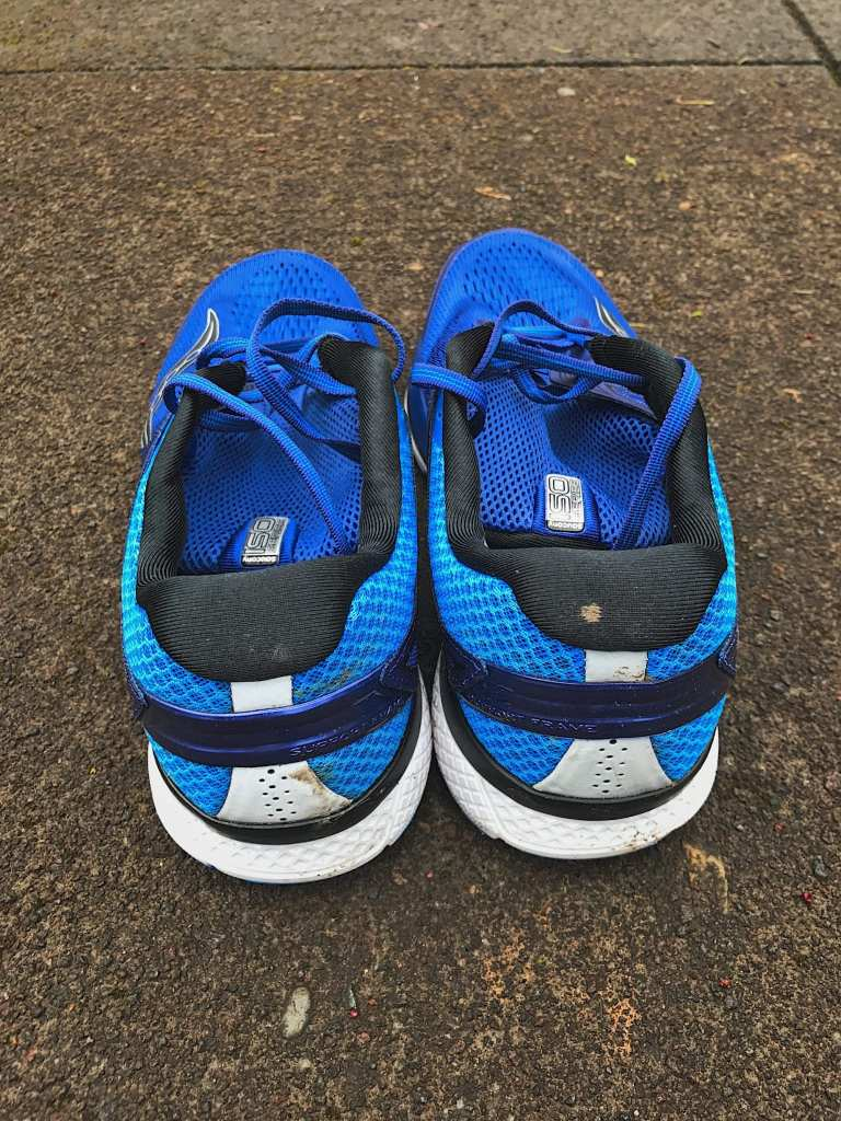 Saucony Triumph ISO 3 from the rear