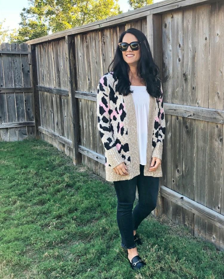 leopard cardigan