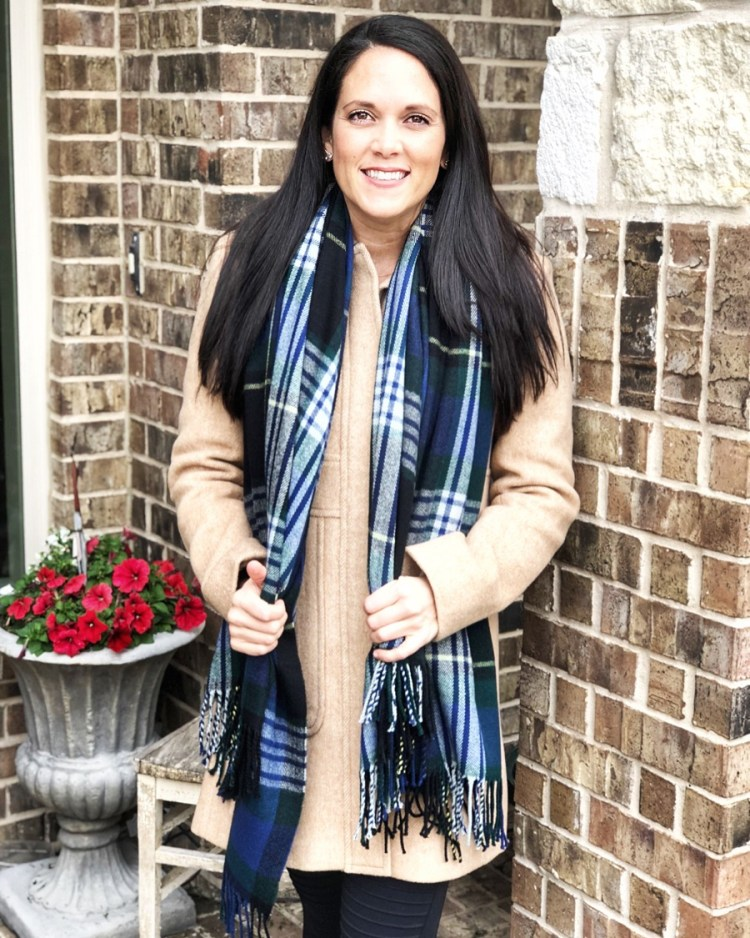 LOFT coat:scarf