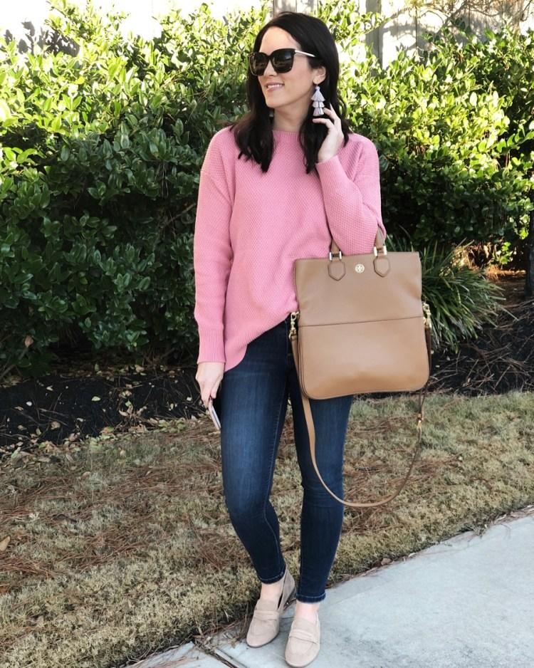 1:25 pink sweater