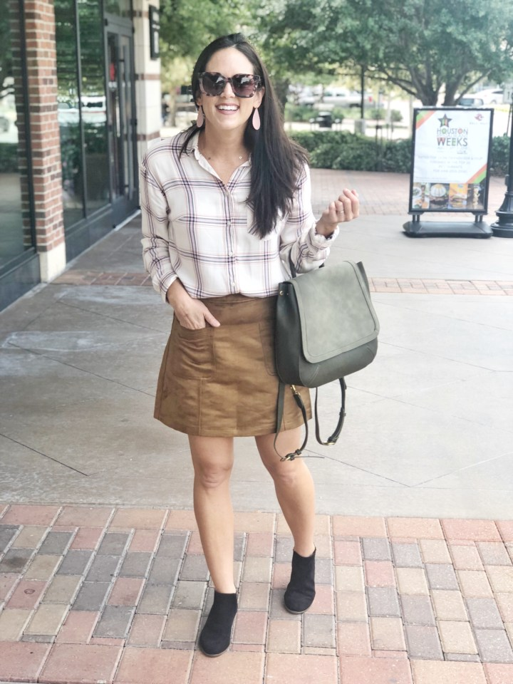 Styling One Plaid Top Four Different Ways