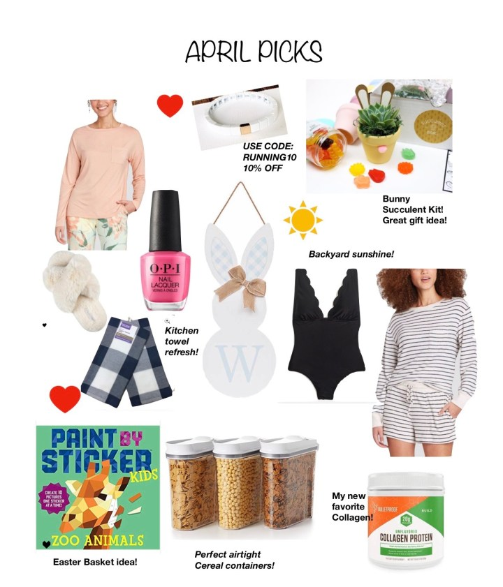 APRIL'S MONTHLY PICKS AND LOVES