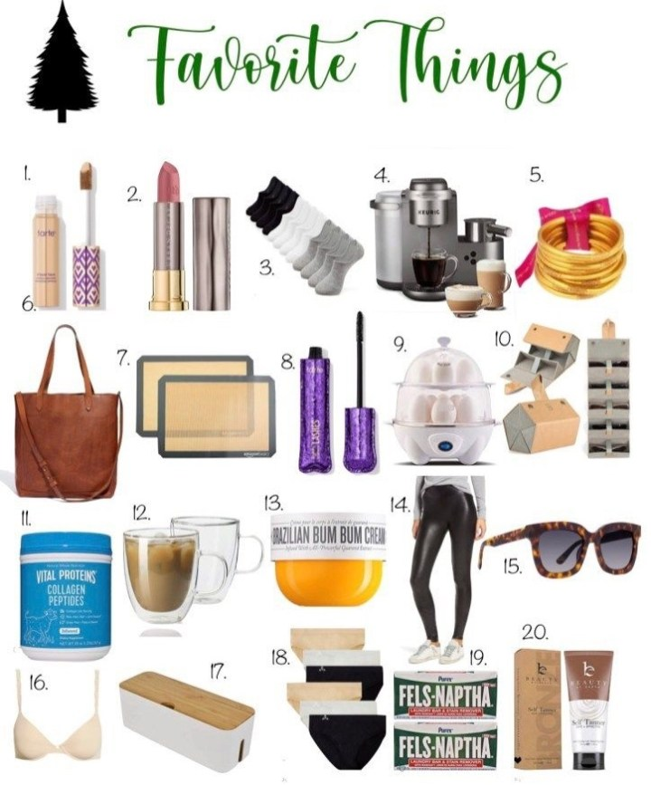 MY 2020 FAVORITE THINGS LIST
