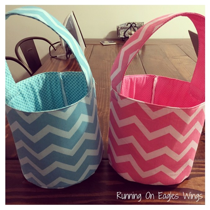Running On Eagles Wings  - DIY Easter Baskets