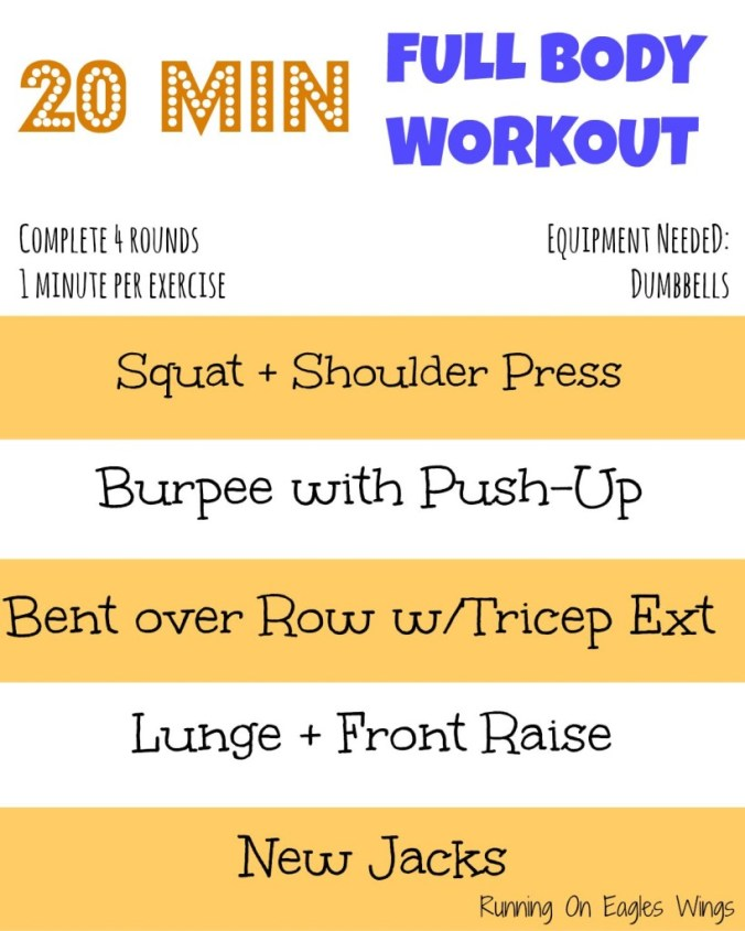 20 minute full body workout at home!